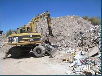 Gestión residuos construcción Los Ángeles de San Rafael