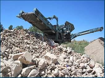 Trituración residuos construcción Guadarrama